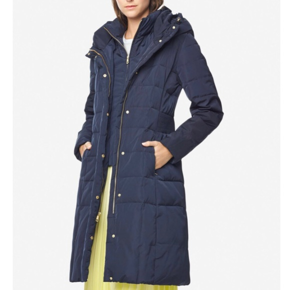 NWT Cole Haan hooded puffy down parka/ winter coat